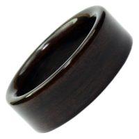 Holzring, Schmuck für Verlobungsring, Ehering, individuell, Ebenholz