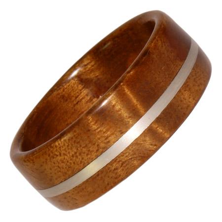 Holzring, Schmuck für Verlobungsring, Ehering, Golden, Madrona, Weissgold