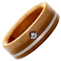 Holzring-Schmuck-Diamant-Ahorn